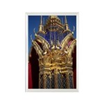 Azure Glass & Gold Rectangle Magnet (100 pack)