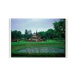 Buddha & Lotus Pool Rectangle Magnet (100 pack)