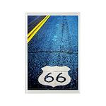 Blue 66 Shield Rectangle Magnet (100 pack)