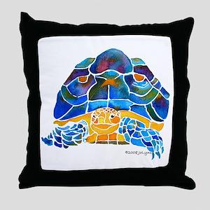 African Spur Tortoise Throw Pillow