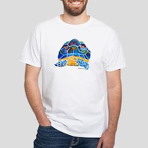 African Spur Tortoise White T-Shirt