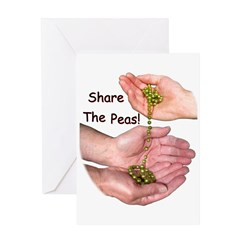 Share The Peas Greeting Card