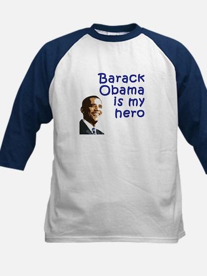 Obama is my hero Kids Baseball Jersey