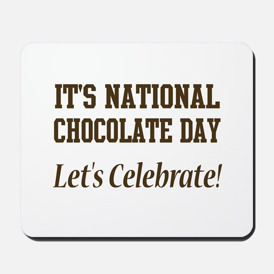 National Chocolate Day design Mousepad