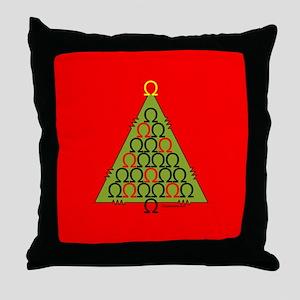 Ohm Tree Throw Pillow
