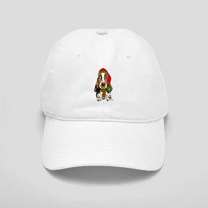 Christmas Basset Hound Cap