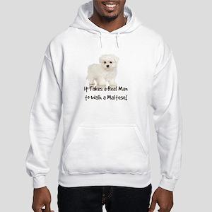 Real Men Walk Maltese Hooded Sweatshirt