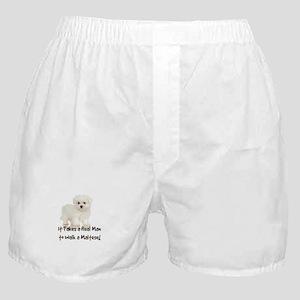 Real Men Walk Maltese Boxer Shorts
