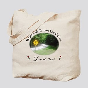 Life Throws You Curves Tote Bag
