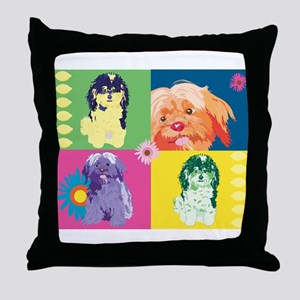 DOG ART 1 Throw Pillow
