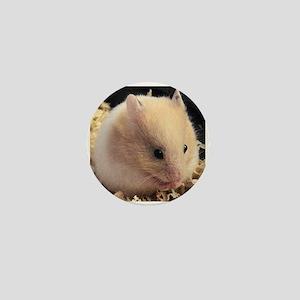 White Chocolate Mocha the Hamster Mini Button