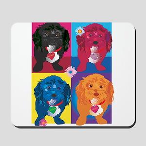 BLACK DOG portrait Mousepad