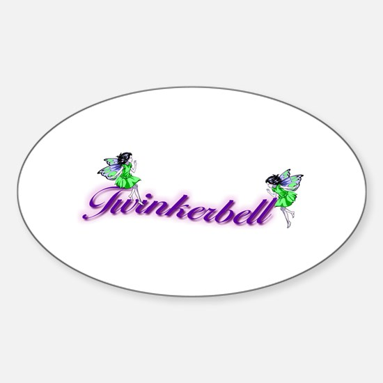 Twinkerbell Oval Decal