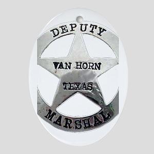 Van Horn Marshal Oval Ornament
