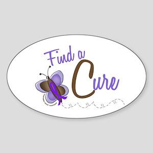 Find A Cure Butterfly 2 EC Oval Sticker