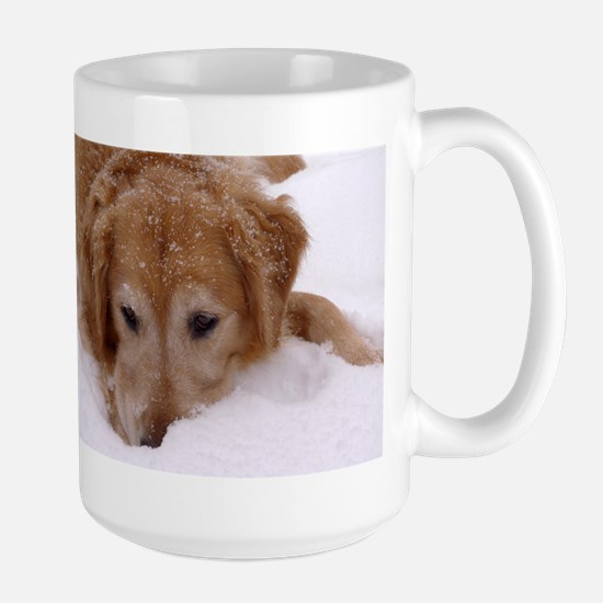 Winter Golden Retriever Large Mug