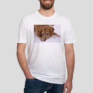 Winter Golden Retriever Fitted T-Shirt