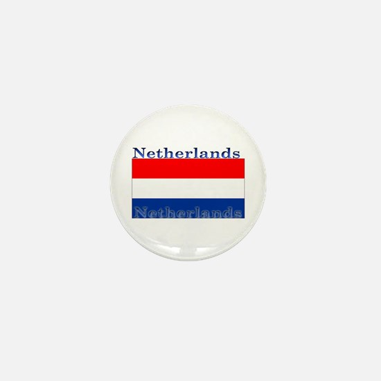 Netherlands Dutch Flag Mini Button