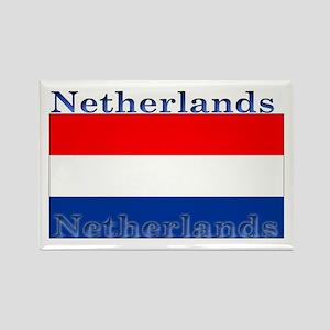 Netherlands Dutch Flag Rectangle Magnet