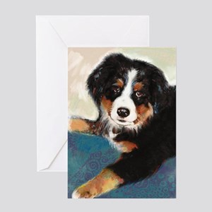 Colorful Bernese Mountain Dog Greeting Card