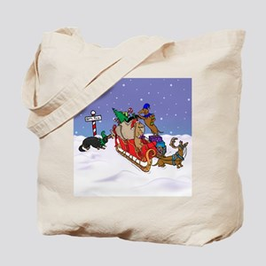 North Pole Dachshunds Tote Bag