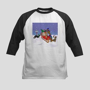 North Pole Dachshunds Kids Baseball Jersey