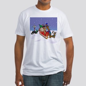 North Pole Dachshunds Fitted T-Shirt