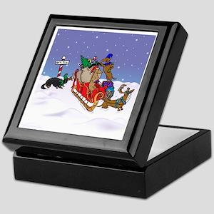 North Pole Dachshunds Keepsake Box