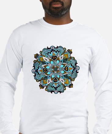 TURQUOISE FIRE Long Sleeve T-Shirt