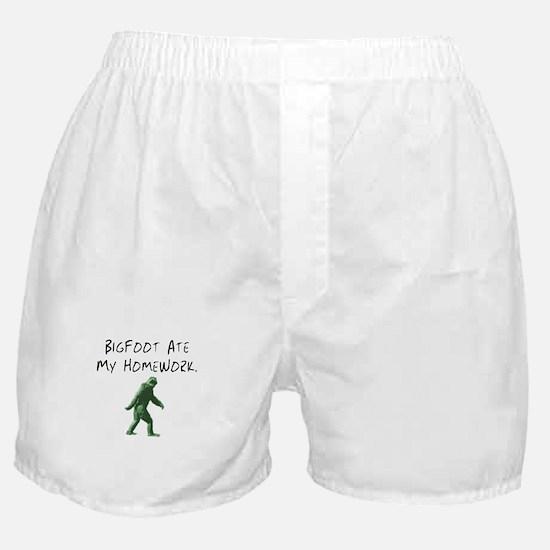 Bigfoot Ate My Homework. Boxer Shorts