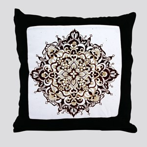 Aged Lace Throw Pillow