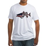 Striped bass skeleton Fitted Light T-Shirts
