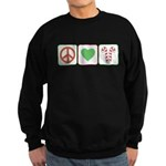 Peace Love Candy Canes Sweatshirt (dark)