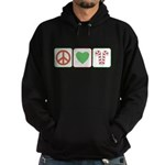 Peace Love Candy Canes Hoodie (dark)