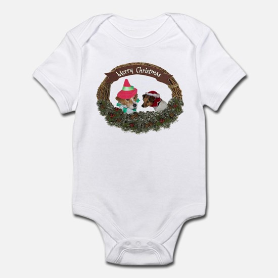 MERRY CHRISTMAS WREATH WITH D Infant Bodysuit