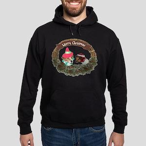 MERRY CHRISTMAS WREATH WITH D Hoodie (dark)