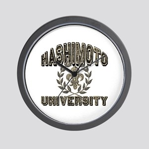 Hashimoto Last Name University Wall Clock