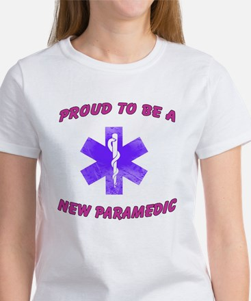 Proud to be a new medic purple women's t-shirt