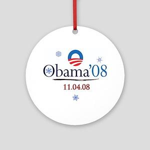 Obama Christmas Commemorative Ornament (Round)