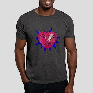 """""""Be safe"""" Heart /blue Dark T-Shirt"""