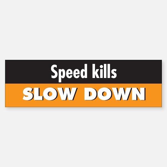 Speed kills Bumper Bumper Bumper Sticker