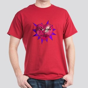 """Be safe"" Heart / purple Dark T-Shirt"