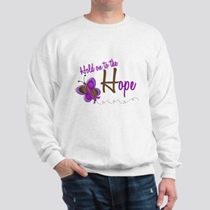 Hold On To Hope 1 Butterfly 2 PURPLE Sweatshirt