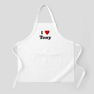 I Love Tony BBQ Apron