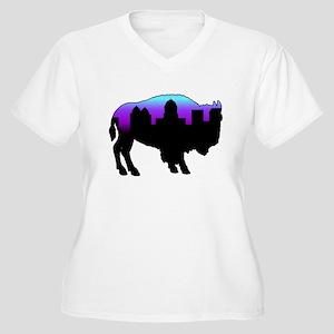 Purple Skyline Women's Plus Size V-Neck T-Shirt