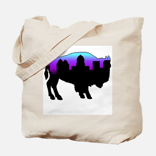 Purple Skyline Tote Bag