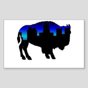 Deep Blue Skyline Rectangle Sticker