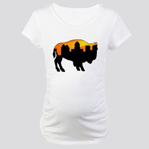Sunny Day Skyline Maternity T-Shirt