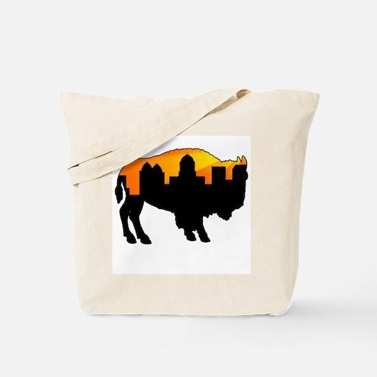 Sunny Day Skyline Tote Bag