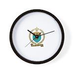 MENEUX Family Crest Wall Clock